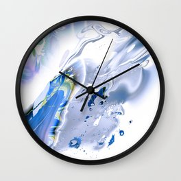 Liquefied 3 by Ahmet Asar Wall Clock