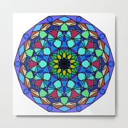 mandala Color curls. Metal Print