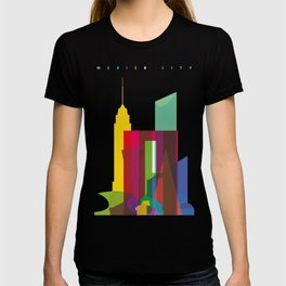 Shapes of Mexico City accurate to scale T-shirt