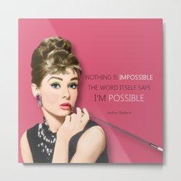 Movie star art - Audrey Hepburn Metal Print