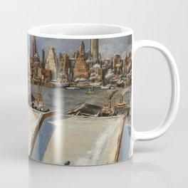 American Masterpiece 'Manhattan Skyline' by John Cunning Coffee Mug
