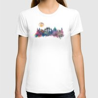 prague T-shirts featuring Prague skyline by jbjart