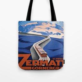 Vintage poster - Zermatt Tote Bag