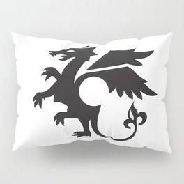 dragon - black Pillow Sham