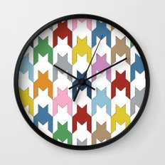 M Dog Tooth Wall Clock