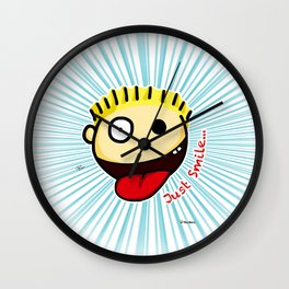 The Sbirù - Just Smile... Wall Clock