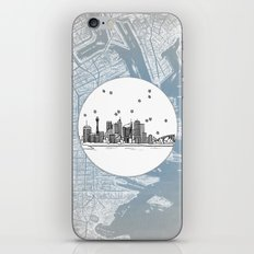 Sydney, New South Wales, Australia City Skyline Illustration Drawing iPhone & iPod Skin