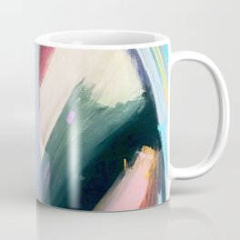 Eye of the Beholder [4]: a colorful, vibrant abstract in purples, blues, orange, pink, and gold Coffee Mug