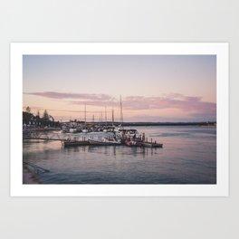 Pink sunset, Portimao Art Print