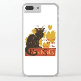 Joyeuse saint Valentin Le Chat Noir Parody Clear iPhone Case