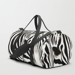 Zebra-Black and White Duffle Bag