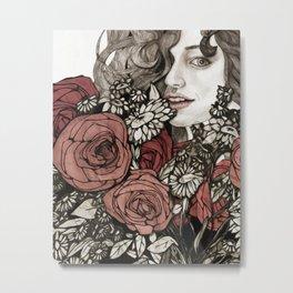 floral greetings Metal Print