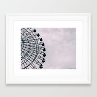kobe Framed Art Prints featuring Kobe Ferris Wheel by ambivalentpress