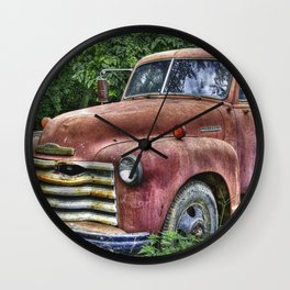 Old Chevy Truck Wall Clock