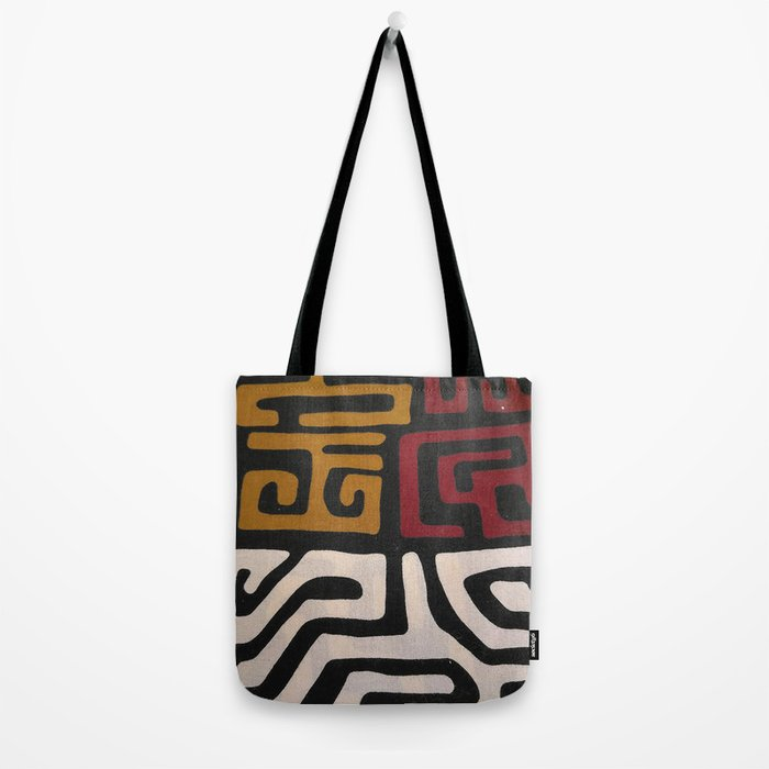 African Mudcloth Print Tote Bag