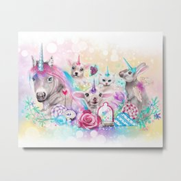 We All Just Want to be Unicorns Metal Print