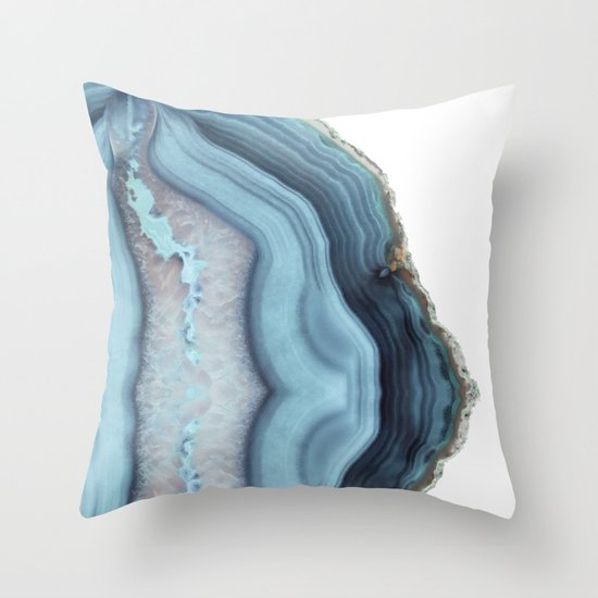 Throw Pillows Like Anthropologie : Light Blue Agate Throw Pillow by Cafelab Society6