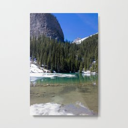 Winter Photography: Mirror Lake, Banff, Canada Metal Print