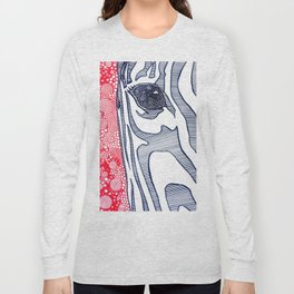 Zebra Portrait Long Sleeve T-shirt