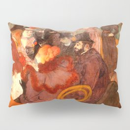 "Henri de Toulouse-Lautrec ""At the Moulins Rouge"" Pillow Sham"