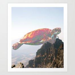 Psychadelic Turtle Art Print