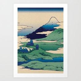 Doctor Who Mount Fuji - Mont Fuji - Tardis Art Print