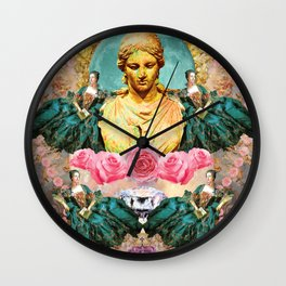 softest romantic rose queen Wall Clock