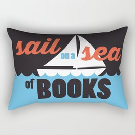 Sail - Just Read Rectangular Pillow
