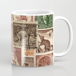 Vintage Australian Postage Stamps Collection Coffee Mug