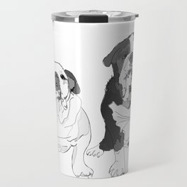 English Bulldog Brothers Travel Mug