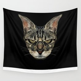 Angry Cyborg Cat  Wall Tapestry