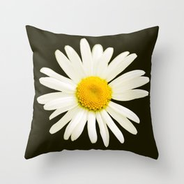 Daisy on a black background - #Society6 #buyart Throw Pillow