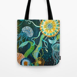 Three moons & a tropical sun Tote Bag