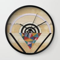prism Wall Clocks featuring Prism by Laurie McCall