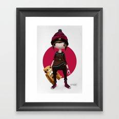 Tiny Robot Framed Art Print