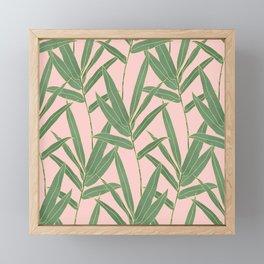 Elegant bamboo foliage design Framed Mini Art Print