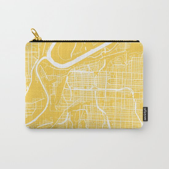 Kansas City map yellow Carry-All Pouch