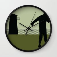 the walking dead Wall Clocks featuring Walking Dead by Drix Design