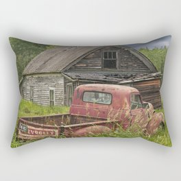 Old Chevy Pickup and Abandoned Farm House Rectangular Pillow