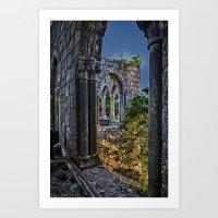 Medieval Castle at night Art Print
