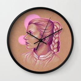 Pink Princess Leia Wall Clock