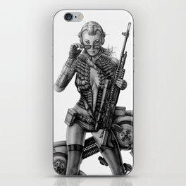 SCI-FI Woman Warrior iPhone Skin