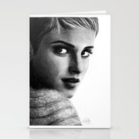 emma watson Stationery Cards featuring EMMA by Laura Catrinella