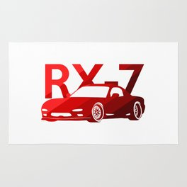 Mazda RX-7 - classic red - Rug