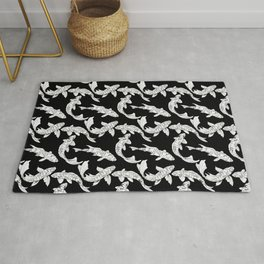 Beautiful Pattern #12 Koi fishes 2 Rug