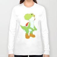 yoshi Long Sleeve T-shirts featuring Yoshi by bloozen