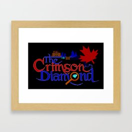The Crimson Diamond colour logo Framed Art Print
