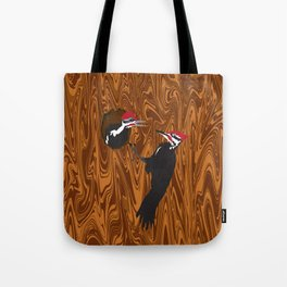 Pileated Woodpecker and Chick Tote Bag