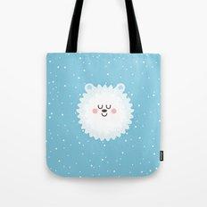 Sleeping Polar Bear Tote Bag