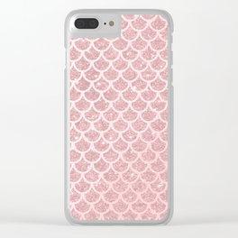 Blush Mermaid Glitter Clear iPhone Case